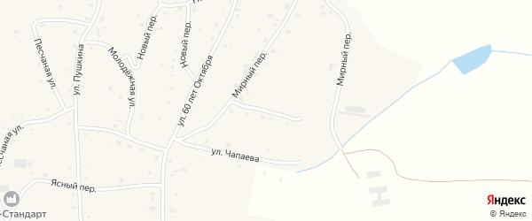 Бригадный переулок на карте села Нижнекаменки с номерами домов