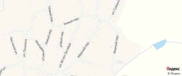 Мирный переулок на карте села Нижнекаменки с номерами домов