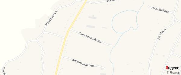 Ферменский переулок на карте села Нижнекаменки с номерами домов