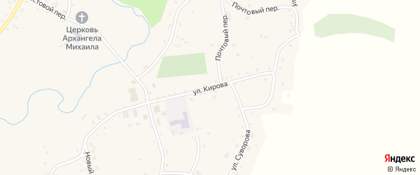 Улица Кирова на карте села Нижнекаменки с номерами домов
