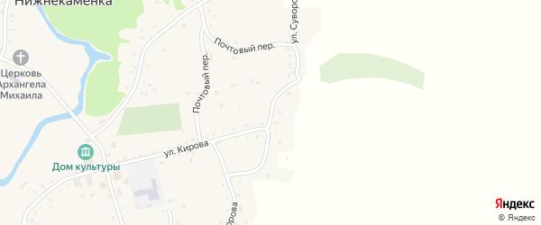 Улица Суворова на карте села Нижнекаменки с номерами домов