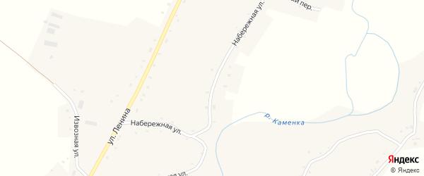 Набережная улица на карте села Нижнекаменки с номерами домов