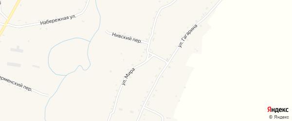 Улица Мира на карте села Нижнекаменки с номерами домов