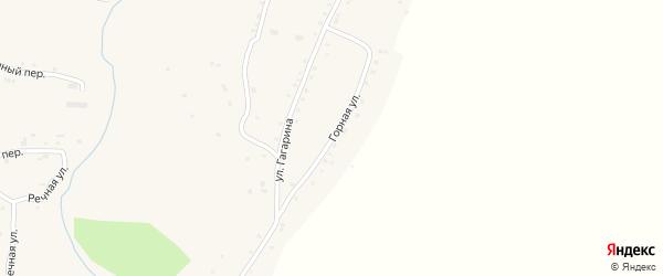 Горная улица на карте села Нижнекаменки с номерами домов