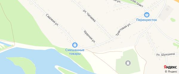 Ударная улица на карте Верха-Катунского села с номерами домов