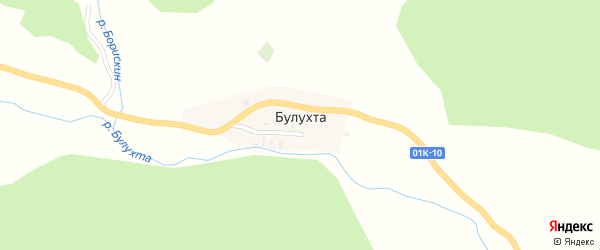 Речная улица на карте поселка Булухты с номерами домов