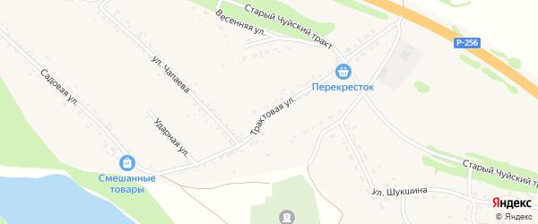 Трактовая улица на карте Верха-Катунского села с номерами домов