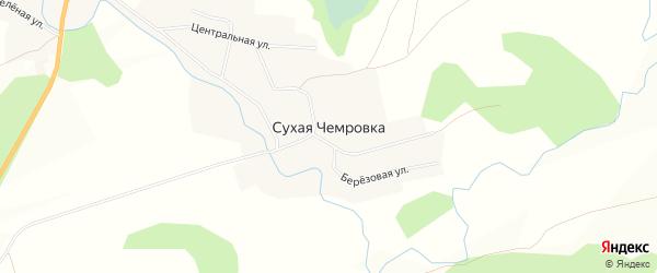 Карта села Сухой Чемровки в Алтайском крае с улицами и номерами домов
