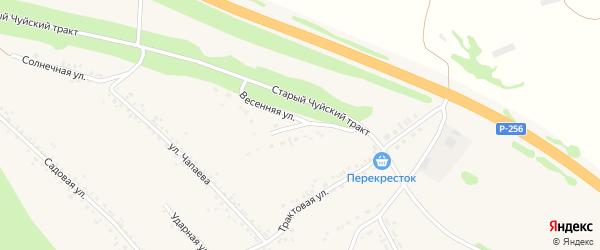 Весенняя улица на карте Верха-Катунского села с номерами домов