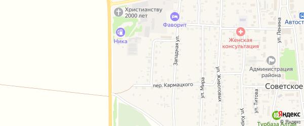 Улица Строителей на карте Советского села с номерами домов