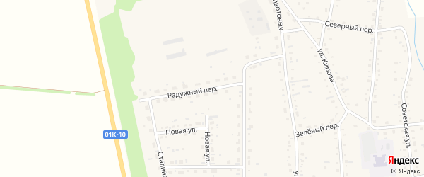 Радужный переулок на карте Советского села с номерами домов
