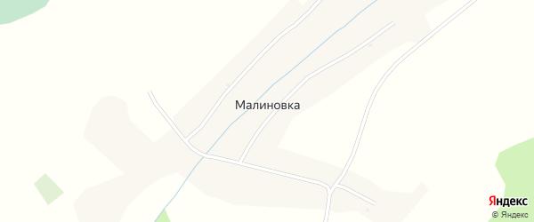 Зеленая улица на карте поселка Малиновки с номерами домов
