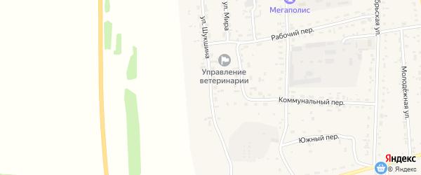 Улица Шукшина на карте Советского села с номерами домов