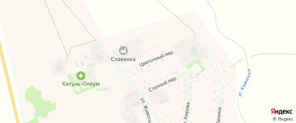 Цветочный переулок на карте Советского села с номерами домов