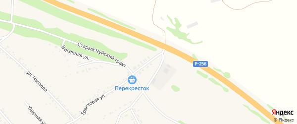Счастливая улица на карте Верха-Катунского села с номерами домов