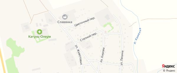 Степной переулок на карте Советского села с номерами домов
