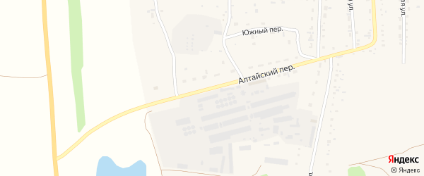 Алтайский переулок на карте Советского села с номерами домов