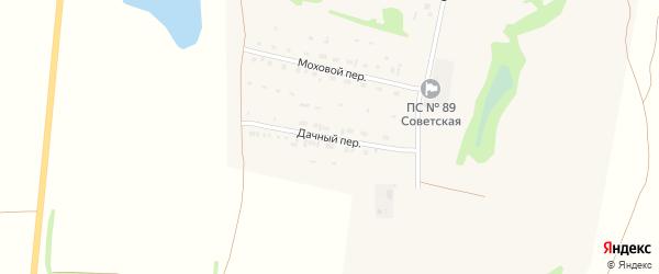 Дачный переулок на карте Советского села с номерами домов