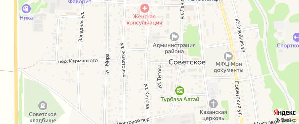 Переулок Кармацкого на карте Советского села с номерами домов