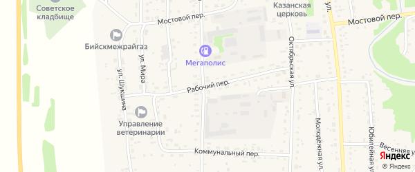 Рабочий переулок на карте Советского села с номерами домов