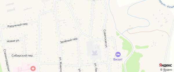 Зеленый переулок на карте Советского села с номерами домов