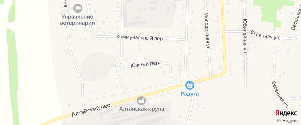Южный переулок на карте Советского села с номерами домов