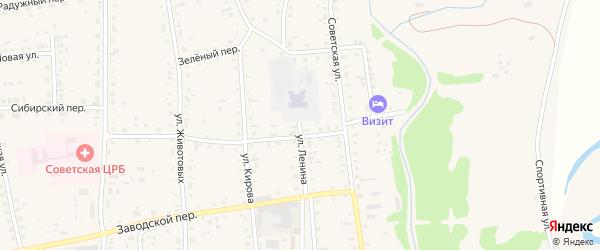 Улица Ленина на карте Советского села с номерами домов