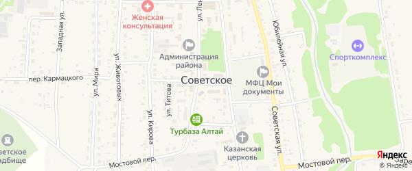Садовый переулок на карте Советского села с номерами домов