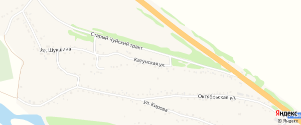 Катунская улица на карте садового некоммерческого товарищества Машиностроителя с номерами домов