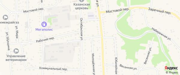 Колхозный переулок на карте Советского села с номерами домов