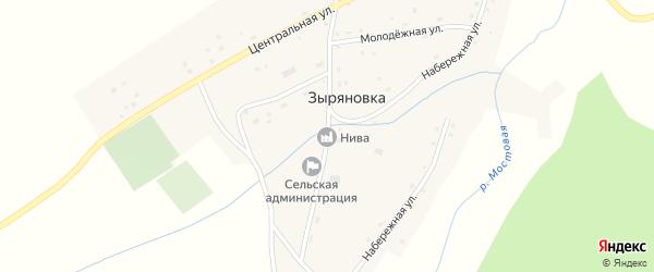 Советская улица на карте села Зыряновки с номерами домов