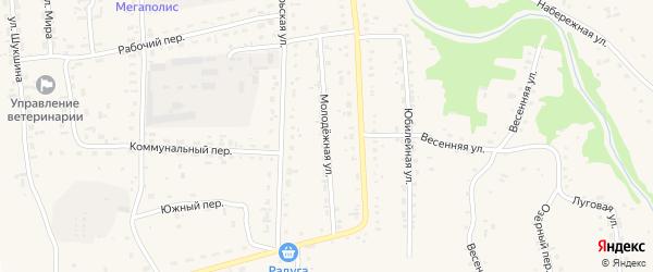 Молодежная улица на карте Советского села с номерами домов