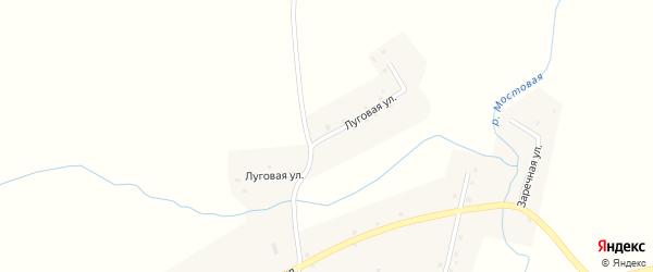Луговая улица на карте села Зыряновки с номерами домов