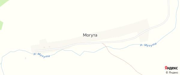 Центральная улица на карте села Могуты с номерами домов