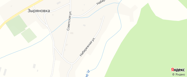 Набережная улица на карте села Зыряновки с номерами домов
