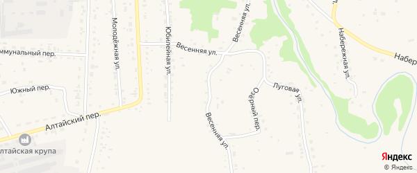 Весенняя улица на карте Советского села с номерами домов