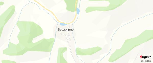 Карта поселка Басаргино в Алтайском крае с улицами и номерами домов