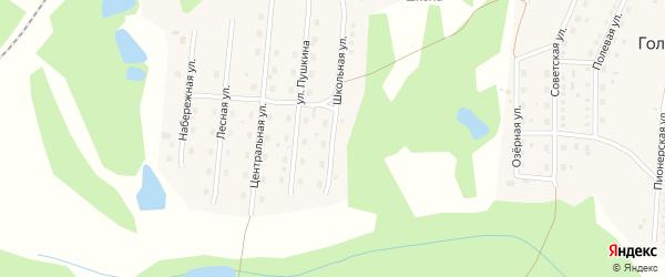 Школьная улица на карте станции Голухи с номерами домов