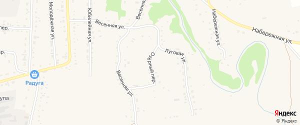Озерный переулок на карте Советского села с номерами домов