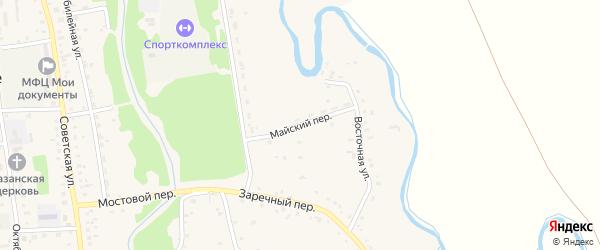 Майский переулок на карте Советского села с номерами домов