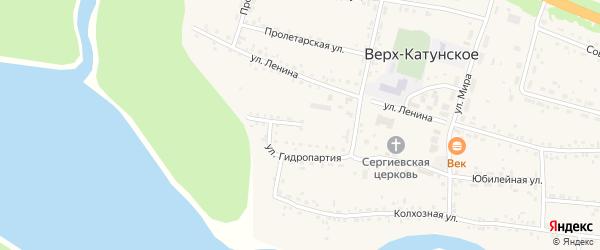 Улица Гидропартия на карте Верха-Катунского села с номерами домов