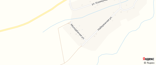 Молодежная улица на карте села Соснового Лога с номерами домов