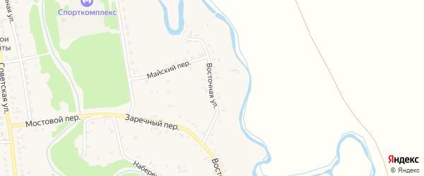 Восточная улица на карте Советского села с номерами домов