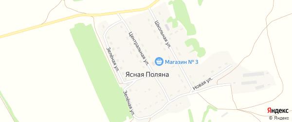 Центральная улица на карте поселка Ясной Поляны с номерами домов