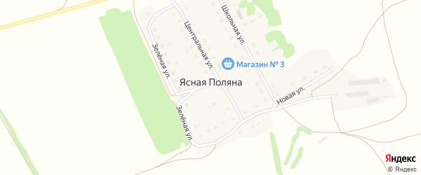 Школьная улица на карте поселка Ясной Поляны с номерами домов