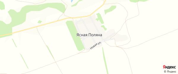 Карта поселка Ясной Поляны в Алтайском крае с улицами и номерами домов