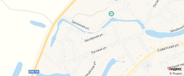 Заозерная улица на карте села Кытманово с номерами домов