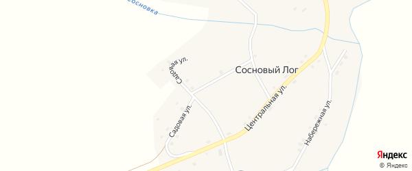 Садовая улица на карте села Соснового Лога с номерами домов