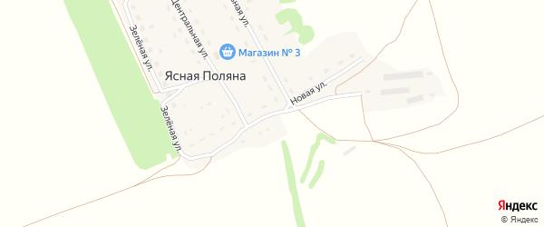 Новая улица на карте поселка Ясной Поляны с номерами домов