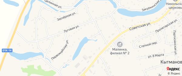 Подгорный переулок на карте села Кытманово с номерами домов